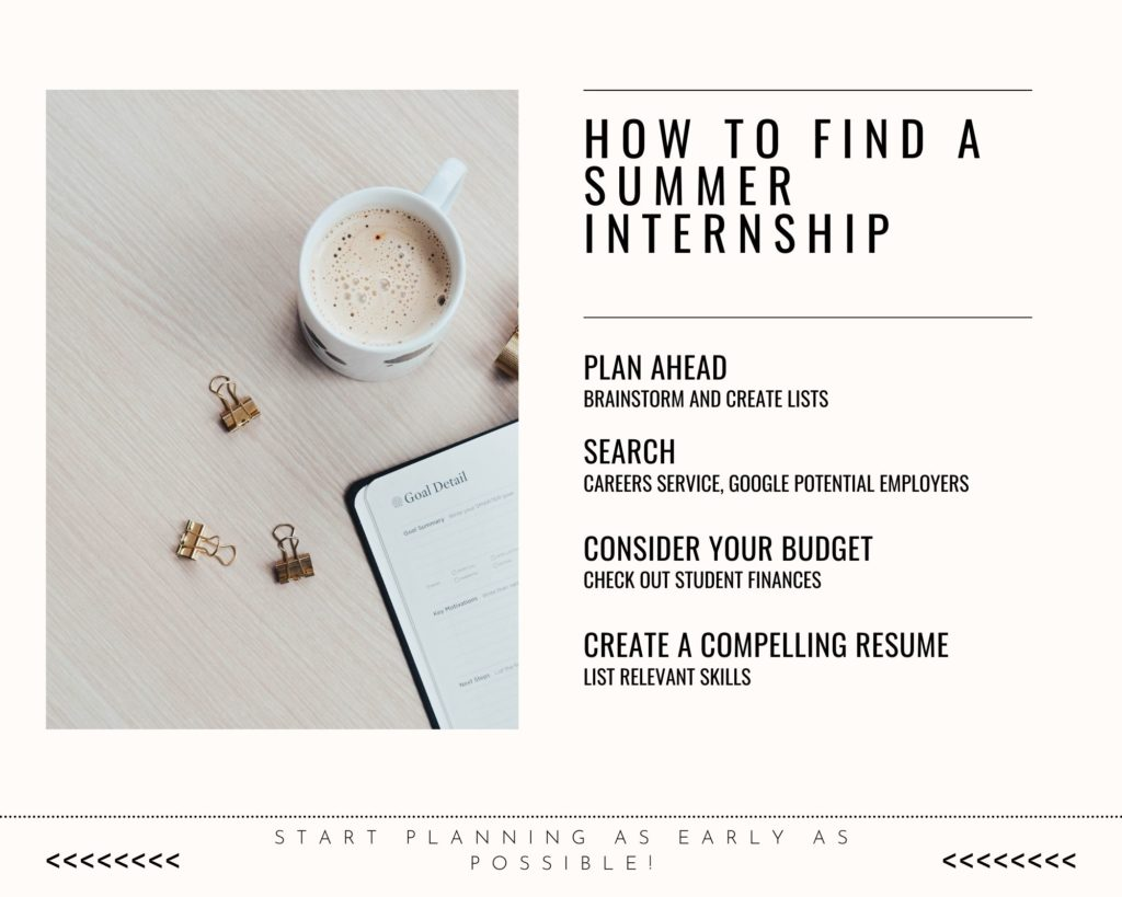 How to find a summer intership